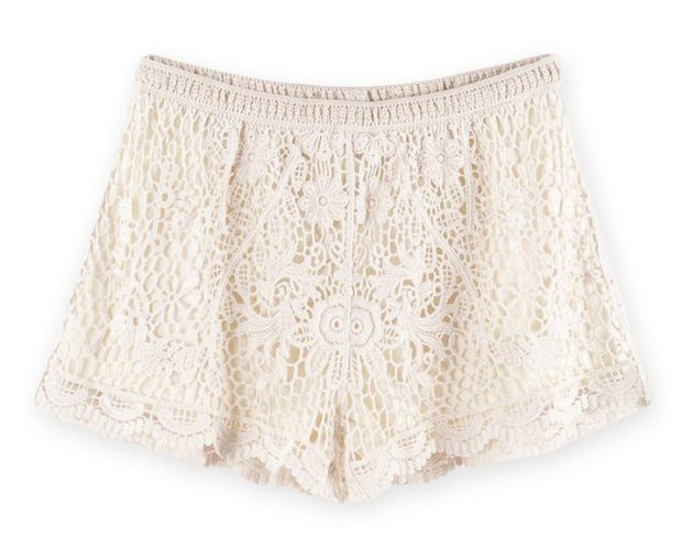 Floral Crochet Shorts - Apricot from Lookbook Store