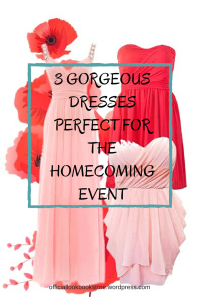 3 Gorgeous Dresses Perfect for the Homecoming Event from Lookbook Store