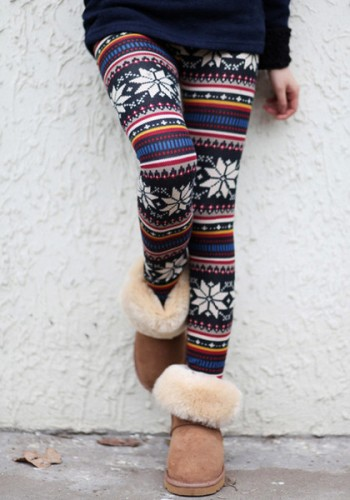 Aztec Floral Leggings from Lookbook Store