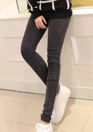 Black Straight Up Leggings from Lookbook Store