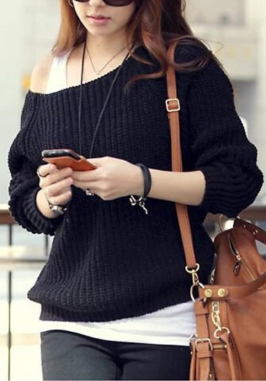 Black Knit Pullover from Lookbook Store