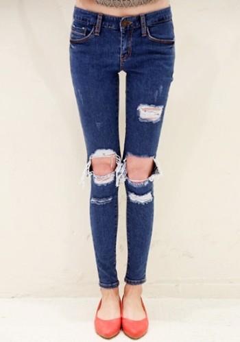 Cutout Boyfriend Jeans from Lookbook Store
