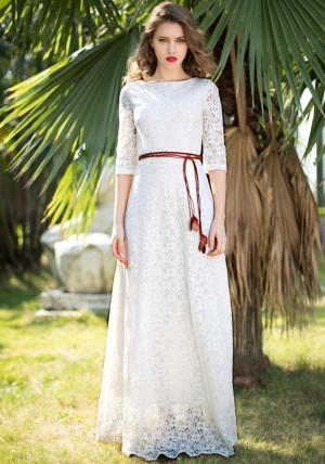 Floral Maxi Lace Dress from Lookbook Store