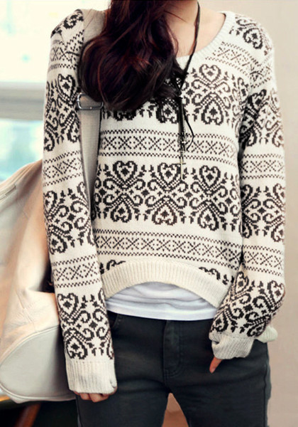 Geo-Patterned Sweater from Lookbook Store