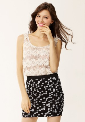 Daisy Mesh Skirt from Lookbook Store
