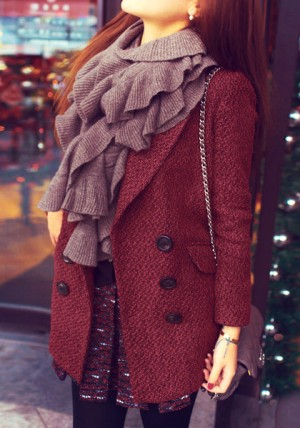 Double-Breasted Faux-Wool Coat from Lookbook Store