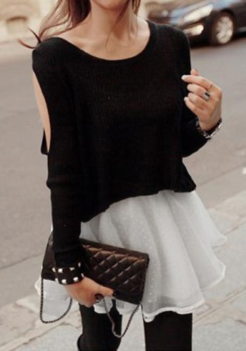 Two-Piece Knitted Lace Dress from Lookbook Store