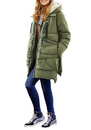 Army Green Down Coat from Lookbook Store