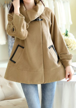 Camel-Colored Cape Coat from Lookbook Store