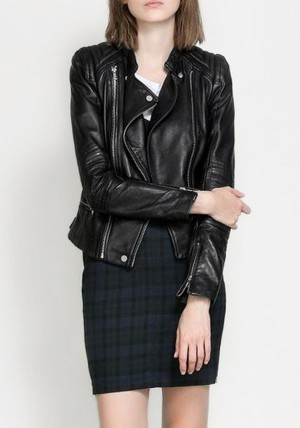Zip Leather Moto Jacket from Lookbook Store