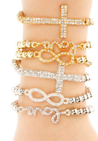 Bling Pendants Bracelet Set from Lookbook Store