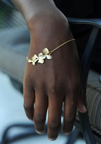 Gold Flower Bracelet from Lookbook Store