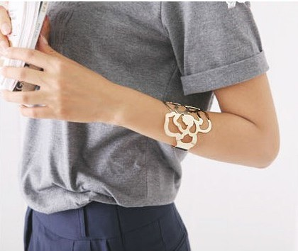 Hollowed-out Rose Bracelet - Rose from Lookbook Store