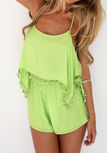 Tasseled Cami-Style Romper from Lookbook Store