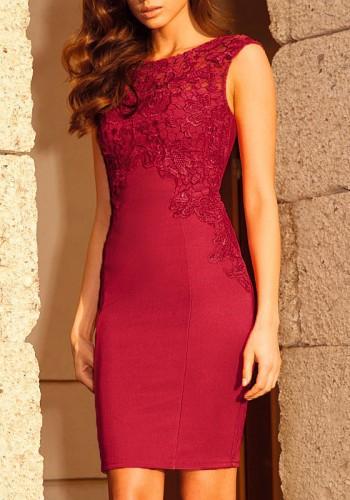 Red Crochet Sheath Dress from Lookbook Store