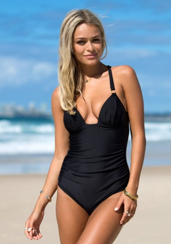 Back Cross Swimsuit Black from Lookbook Store