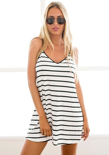 Black and White Stripe Dress from Lookbook Store