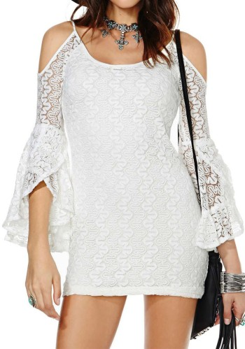 Cold Shoulder Lace Dress from Lookbook Store