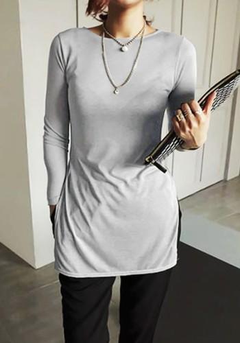Grey Semi Sheer Tunic from Lookbook Store