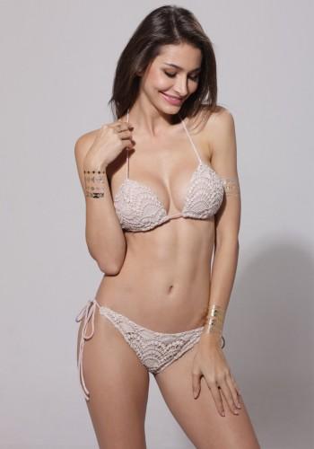 Crochet Floral Bikini Set | Lookbook Store