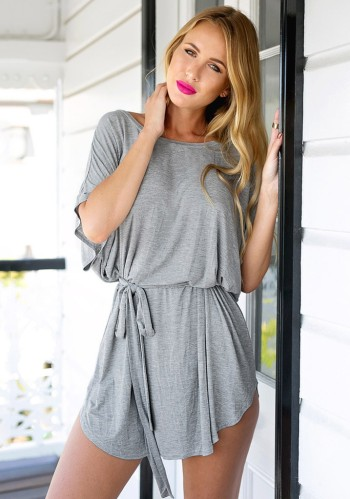 Grey T-Shirt Dress from Lookbook Store