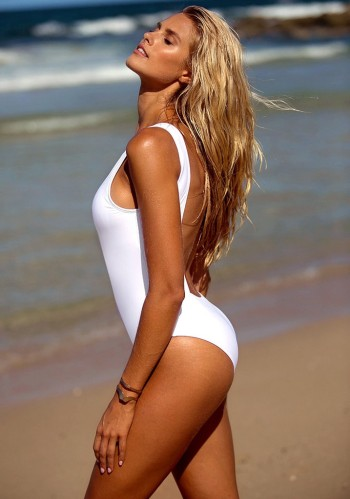 White Low Back Swimsuit from Lookbook Store