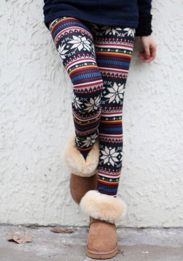 Lookbook Store Aztec Floral Leggings